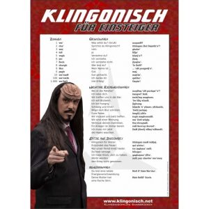 Poster mit klingonischen Sätzen