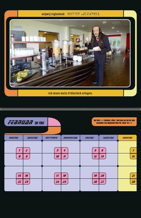 Vorschau des klingonischen Kalenders Monat Februar
