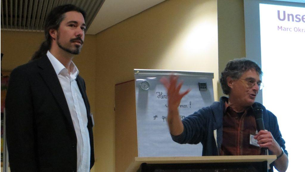 Lieven Litaer mit Marc Okrand auf dem qepHom 2017
