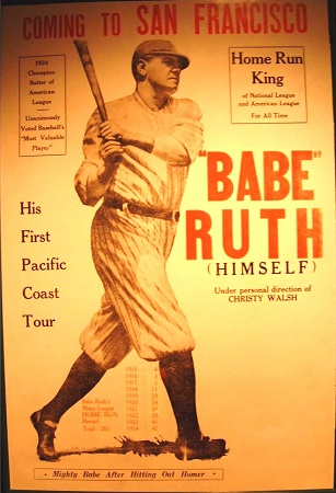 Poster mit Babe Ruth