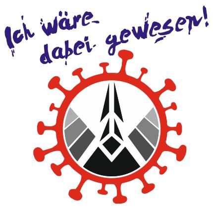 qepHom-Logo mit Corona-Virus kranz und der Zeile ich wäre dabei gewesen